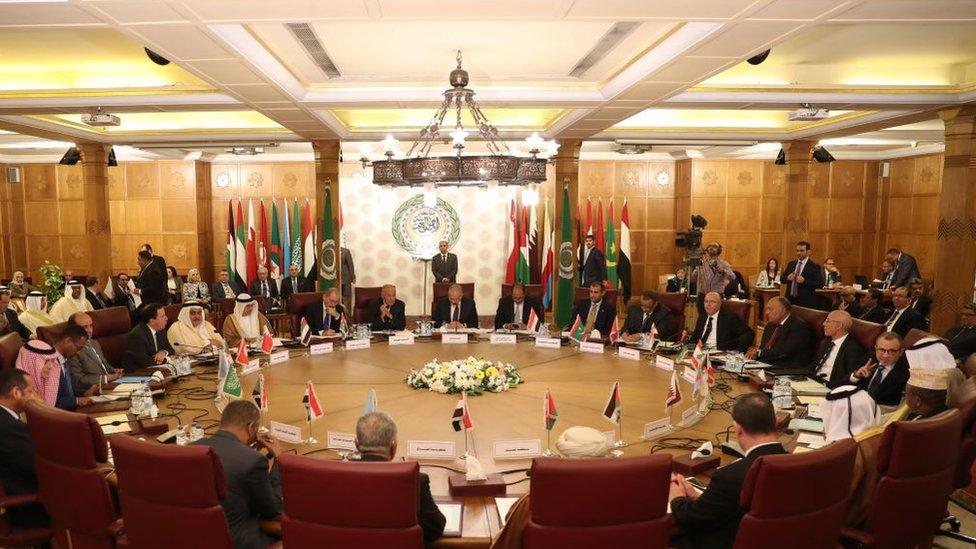 ممثلو الدول العربية في اجتماع طارئ في القاهرة 12 أكتوبر/تشرين الثاني الجاري