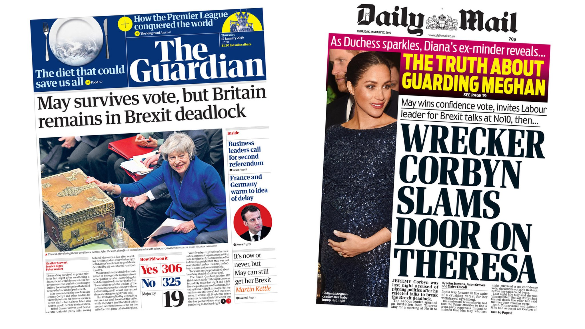 The Papers: Corbyn's 'snub' amid Brexit deadlock