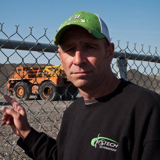 Un extrabajador de la mina Jeffrey