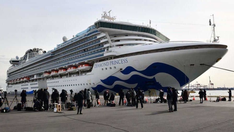 Crucero Diamond Princess en cuarentena frente a la costa de Japón