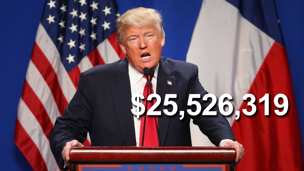 Donadl Trump raised $25m