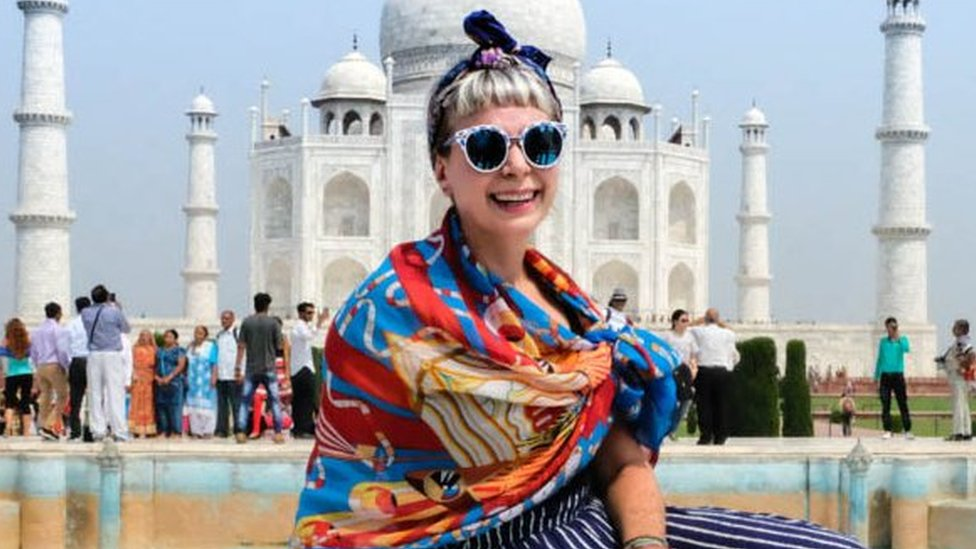 Alice Nettleingham travelling in India