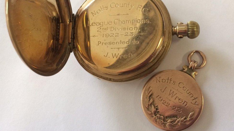 Notts County fan wins league winner's medals at auction