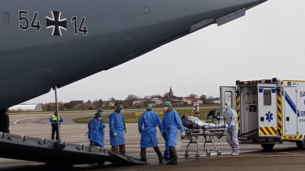Germany's military helped evacuate patients from northern Italy at the peak of the crisis