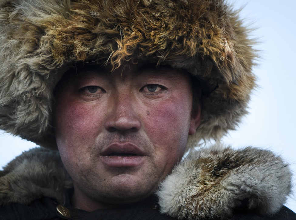 A portrait of a man from the Altai Region of Mongolia