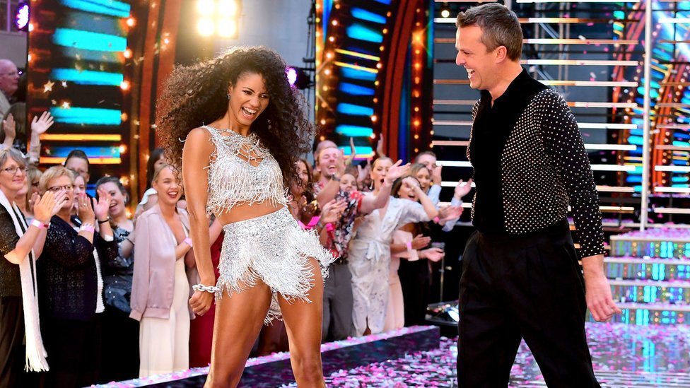 Vick Hope and Graeme Swann