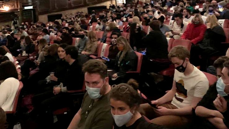 A photograph of the London Palladium audience on Sunday 11 October, 2020