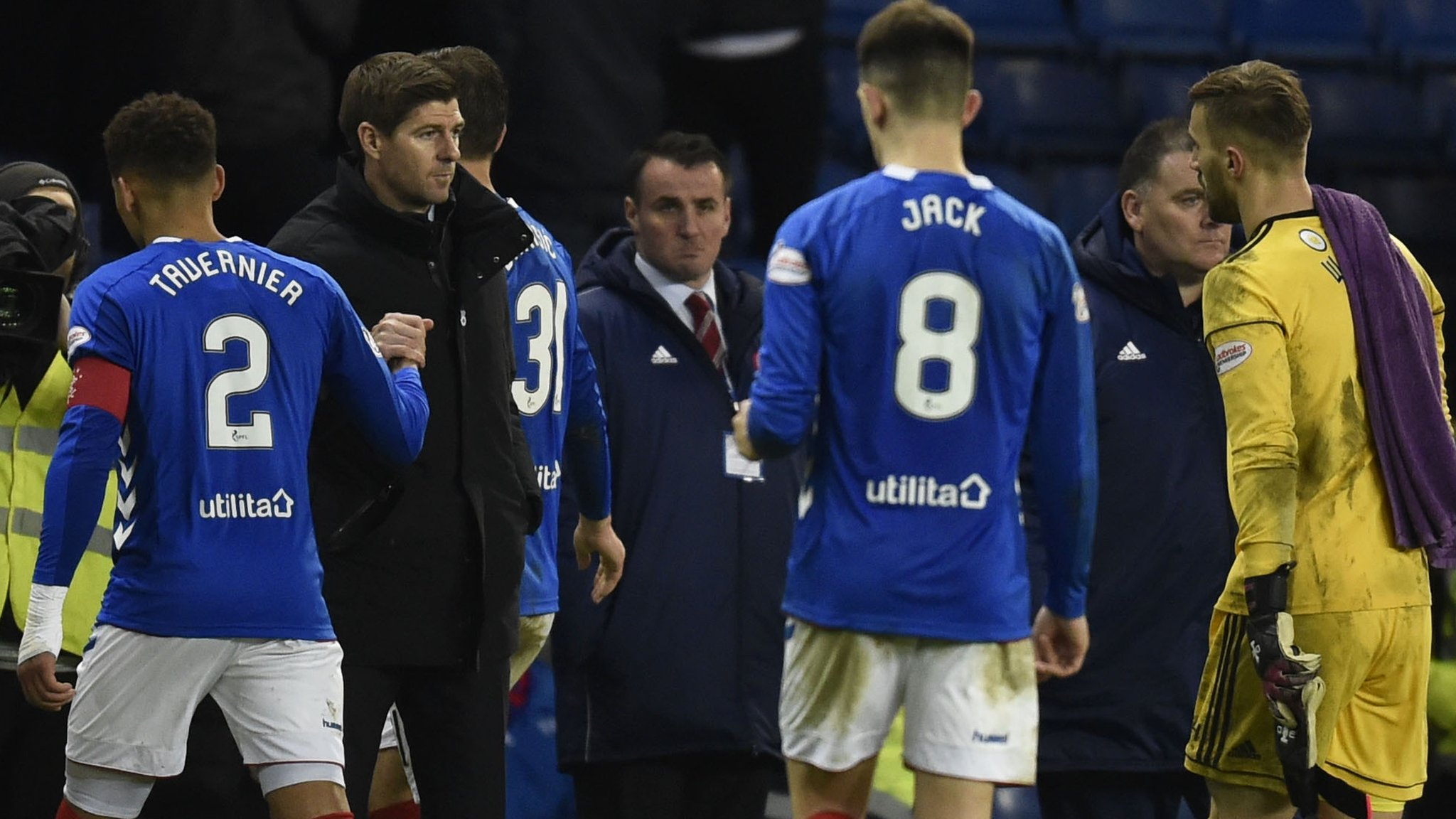 Rangers 1-0 Hamilton: Steven Gerrard 'not interested' in going top of the table