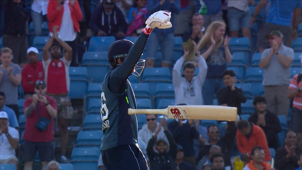 Watch: Root hits a four to win game and bring up his century