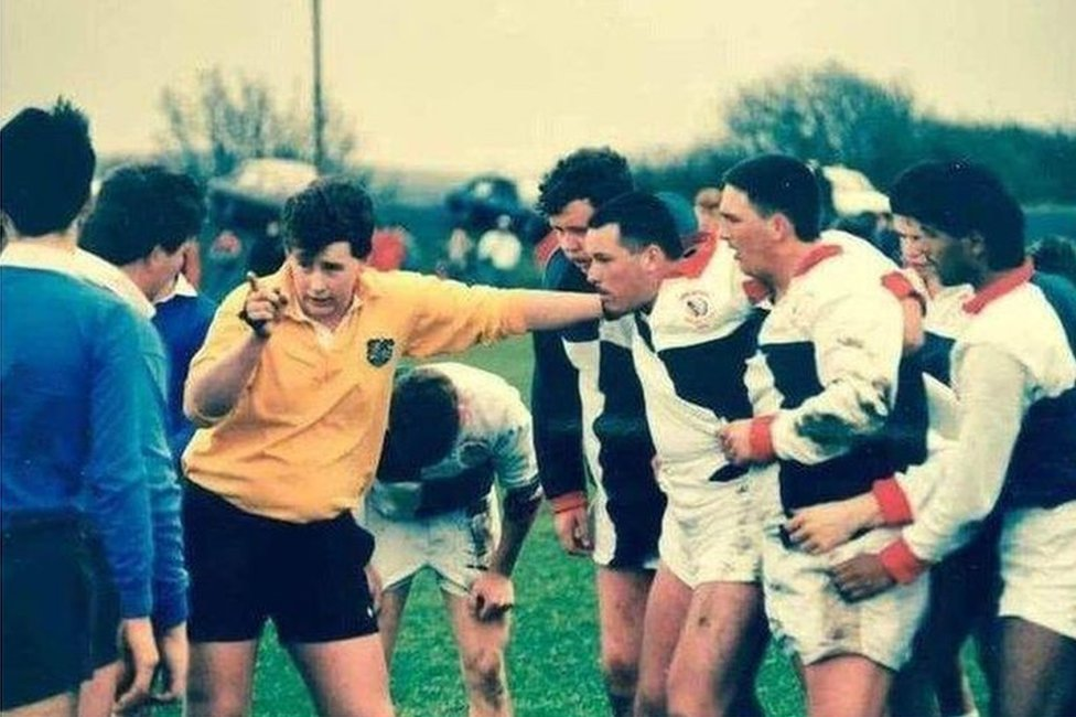 Nigel as a young referee