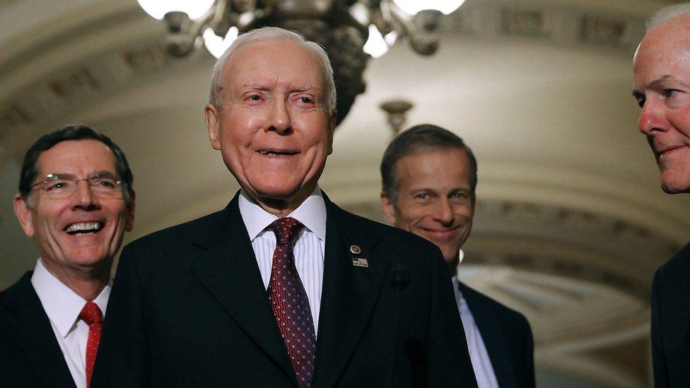 Senator Orrin Hatch of Utah, the longest-serving Republican Senator in US history