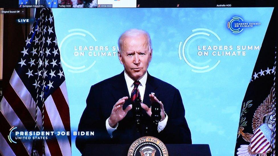 Joe Biden en la cumbre de líderes sobre el clima