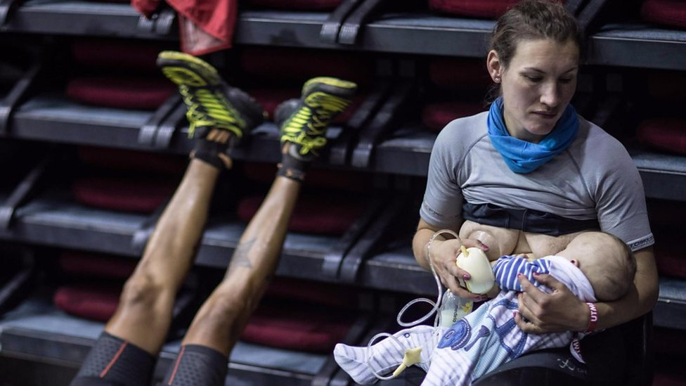 'How breastfeeding on mountain race made me go viral'
