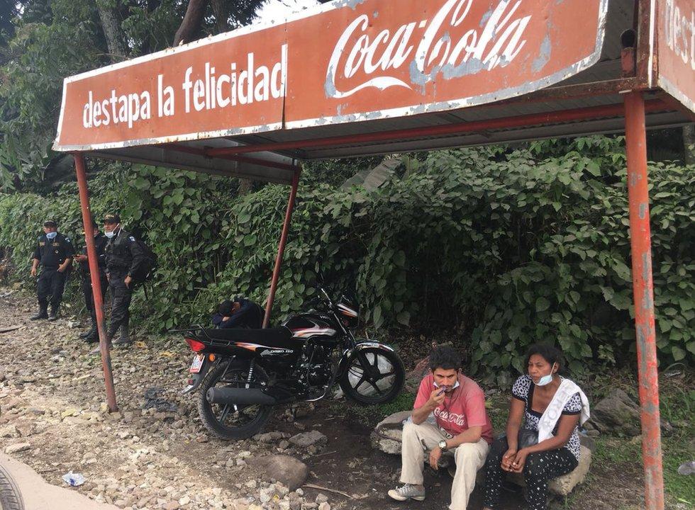 Supervivientes del volcán de Guatemala.