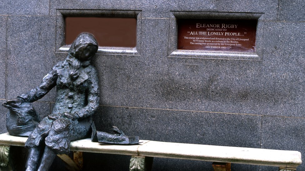 La estatua de Eleanor Rigby en Liverpool.