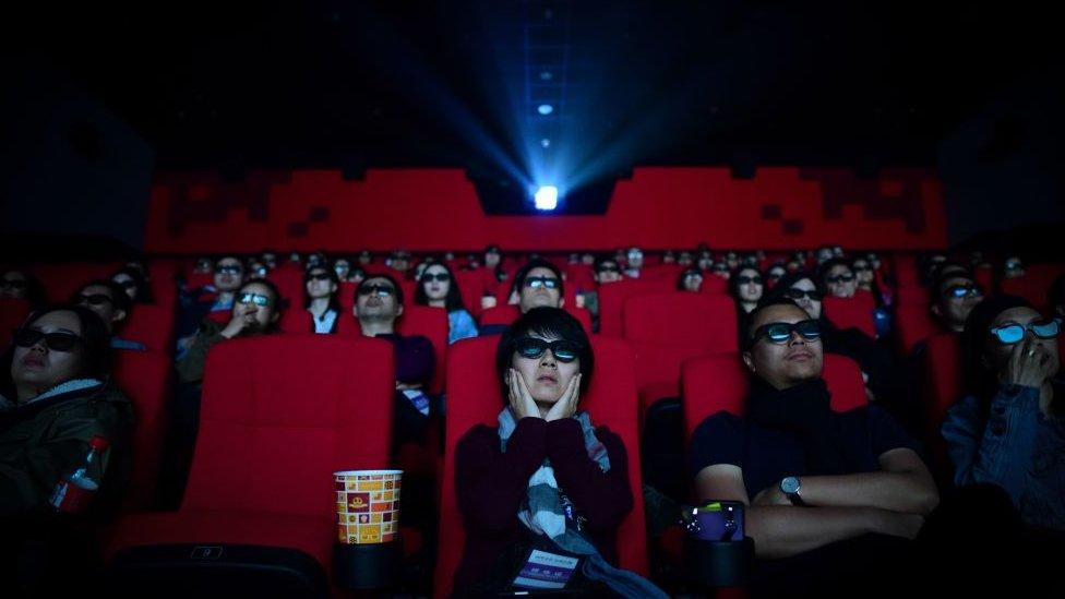 Sala de cine en Qingdao, ciudad al este de China.