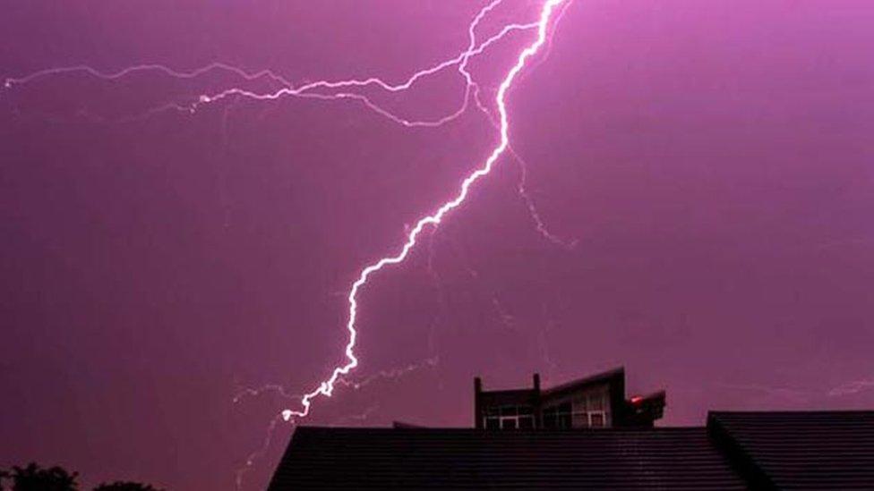 Lightning as seen in Aberdeen