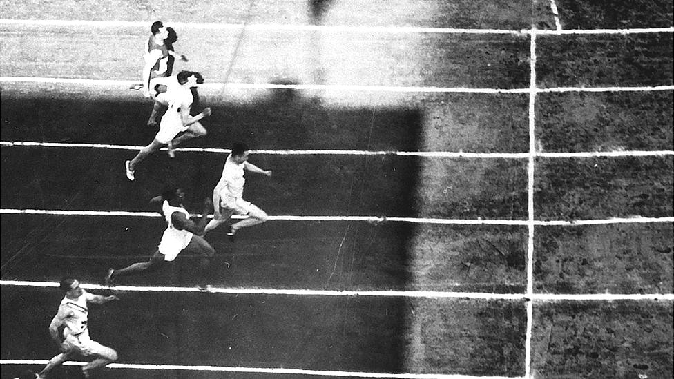Jack London competing in 1928