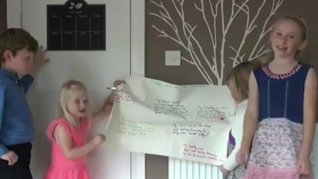 PC Phillips' children and other family members made a video tribute to him