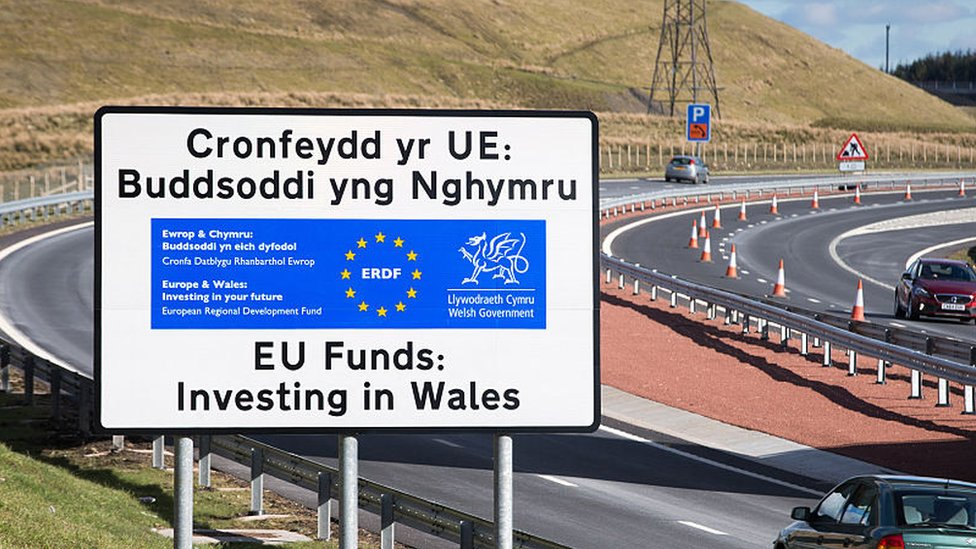 A465 near Ebbw Vale, part funded by EU structural funds