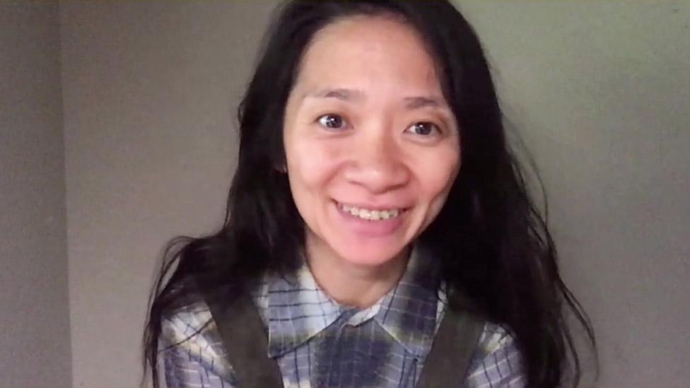 Chloe Zhao at the Bafta Film Awards