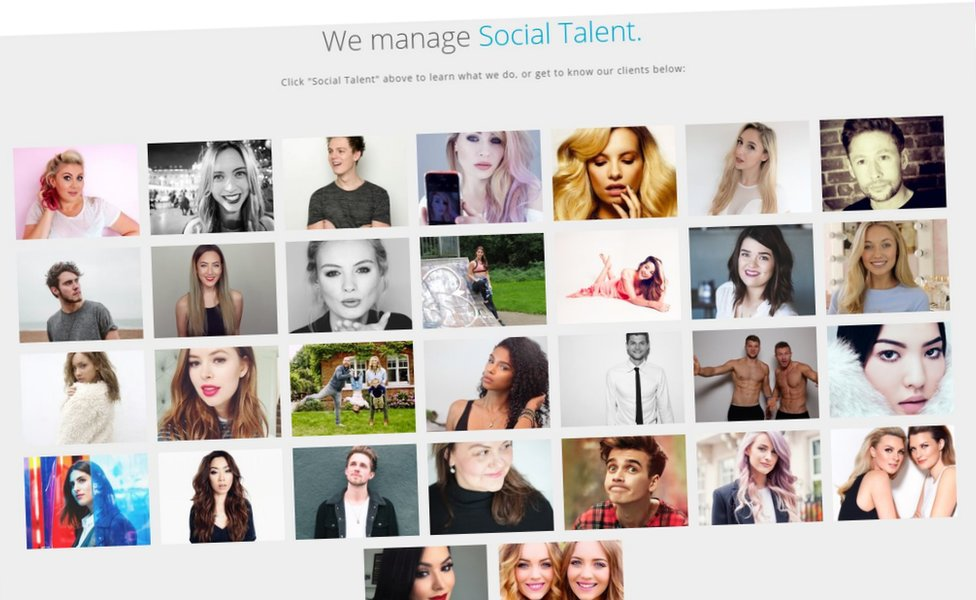 Social talent managed by Gleam Futures