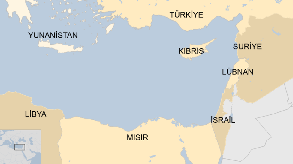 Doğu Akdeniz'e kıyısı olan ülkeler