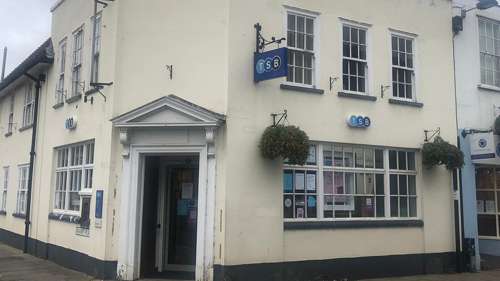 TSB bank, Hadleigh, Suffolk