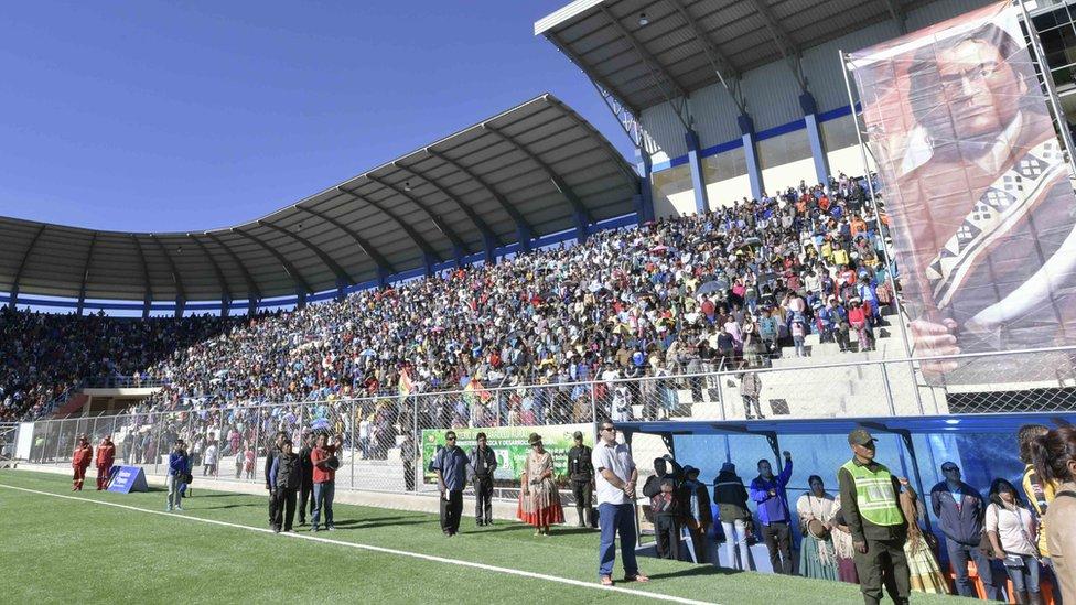 Estadio desde abajo