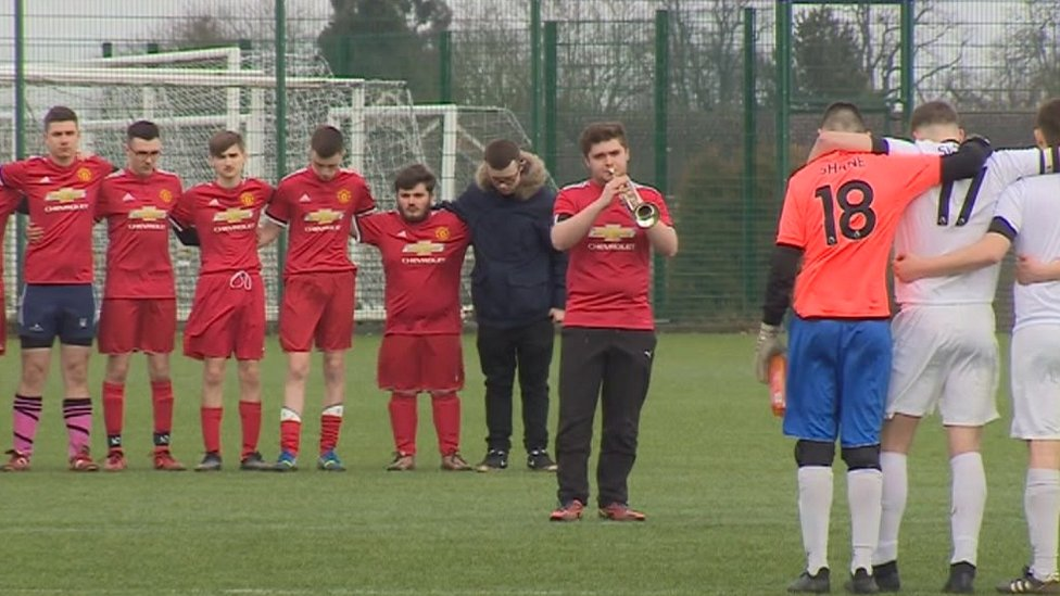 Friends of Shane and Sean held a minute's silence before the game