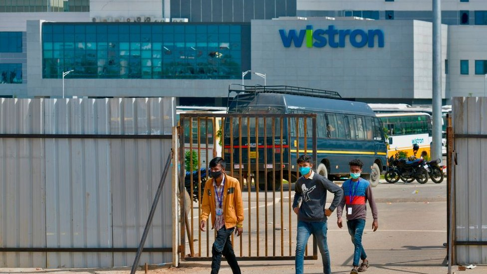Wistron, a Taiwanese-run iPhone factory at Narsapura, about 60km from Bangalore on December 13, 2020