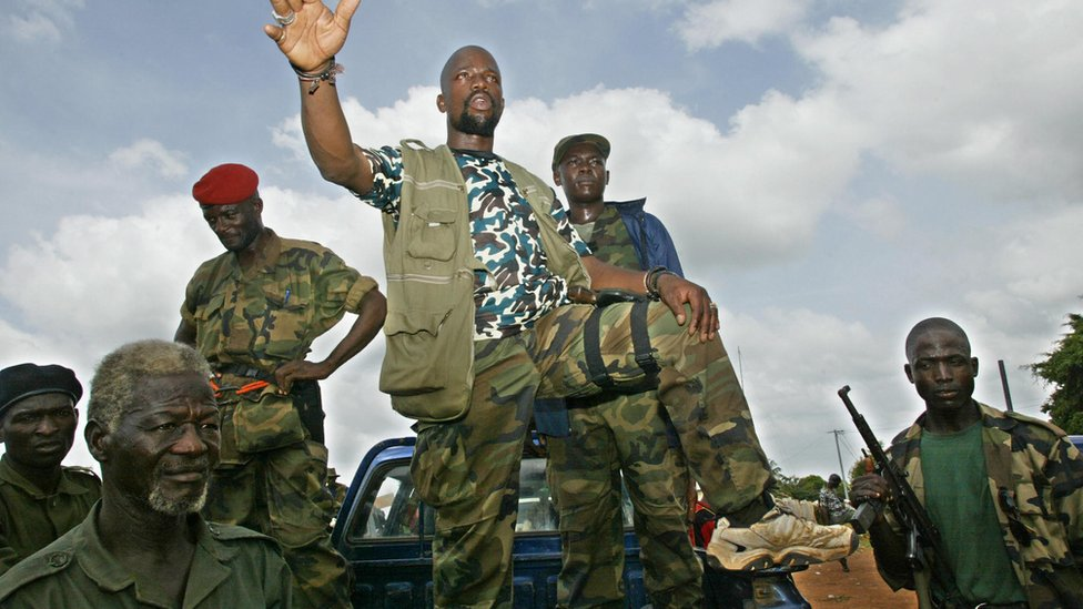 Rebels in Ivory Coast in 2002