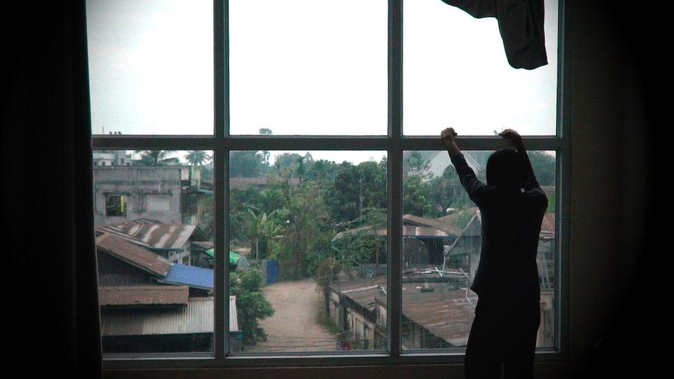 foto de víctima de la trata en China.