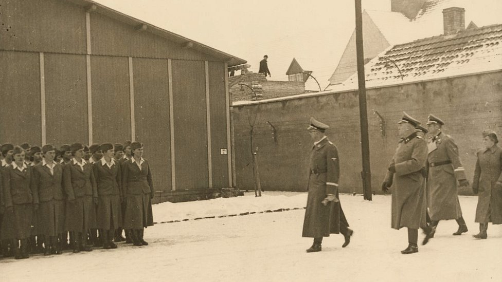 Himmler visiting Ravensbrck, Jan 1941