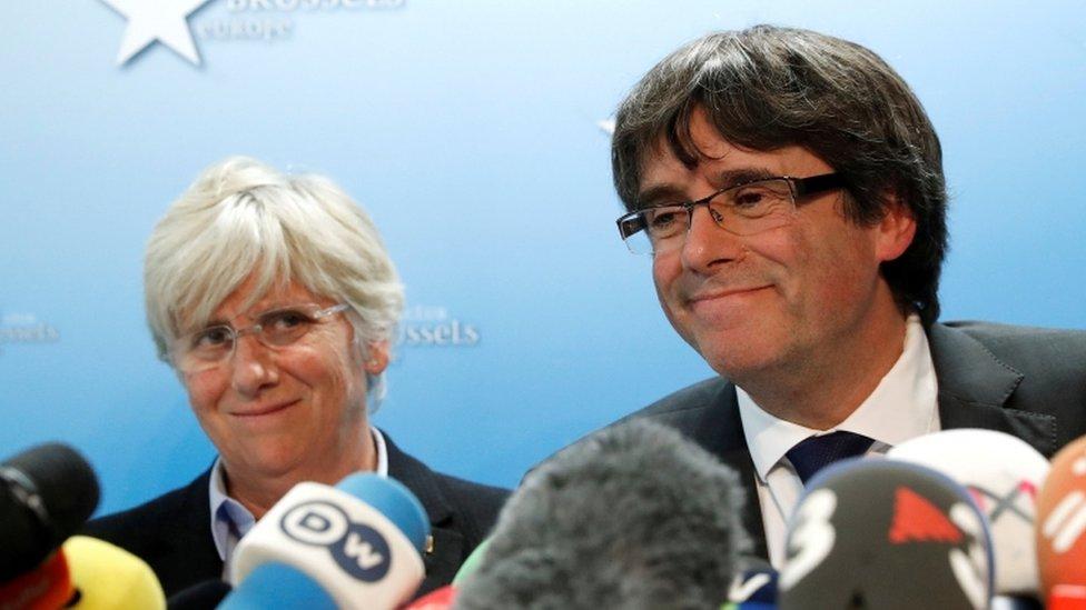 Clara Ponsati and Carles Puigdemont