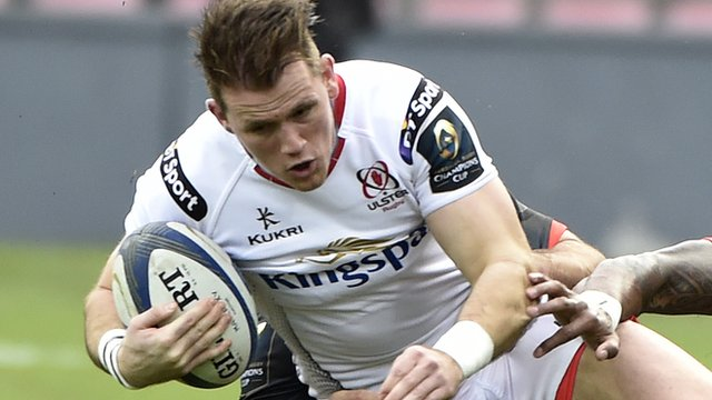 Craig Gilroy in action for Ulster against Oyonnax
