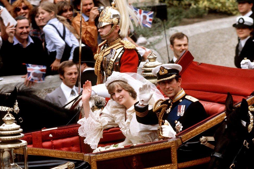 Princ od Velsa i princeza Dajana u kočiji
