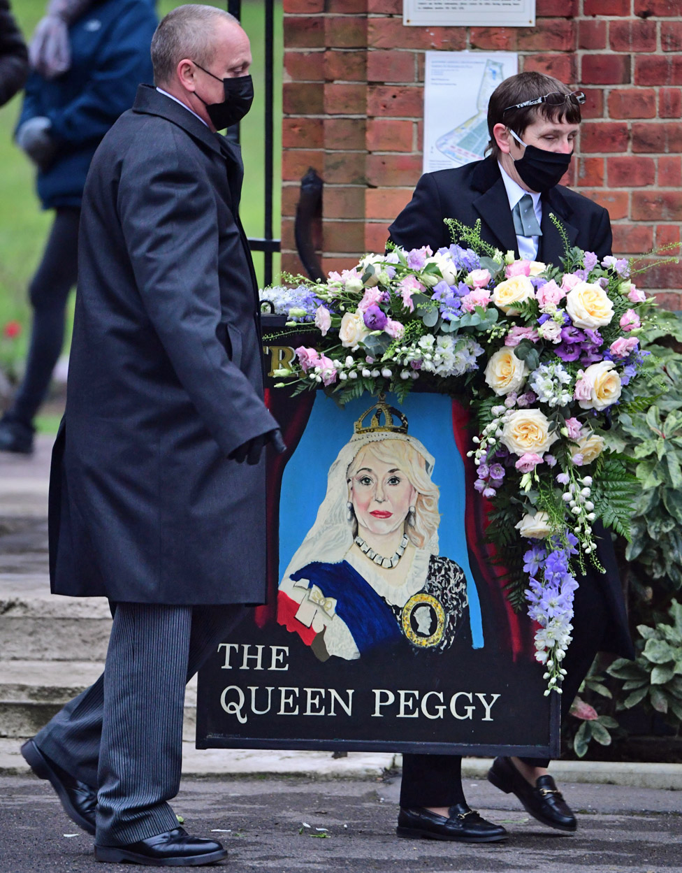 Dame Barbara Windsor's funeral held with 'Queen Peggy' tribute