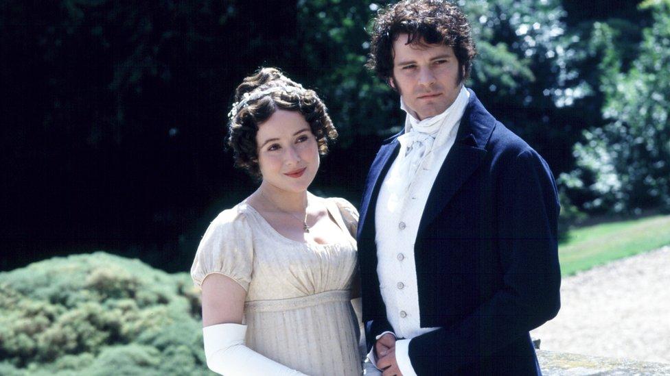 Jennifer Ehle as Elizabeth Bennet and Colin Firth as Fitzwilliam Darcy