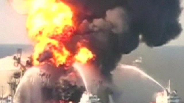 Explosion at the Deepwater Horizon oil rig