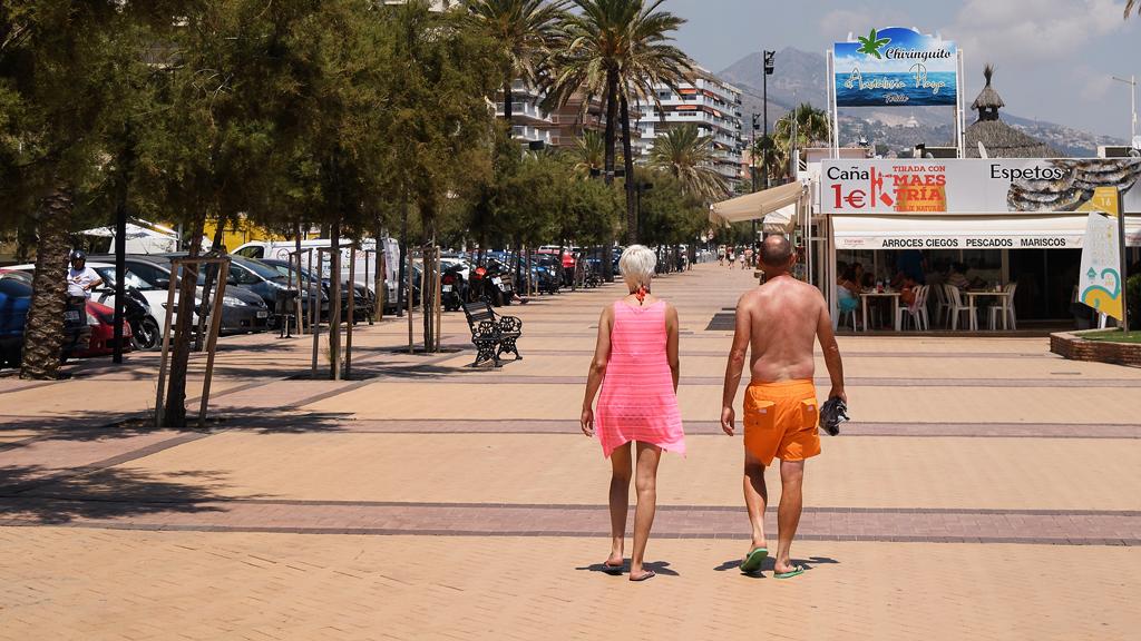 Strandpromenade in Spanien