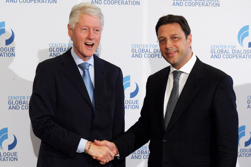 Bill Clinton with Stephan Roh
