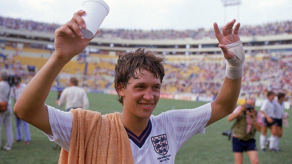 Gary Lineker en el Mundial de México 1986.