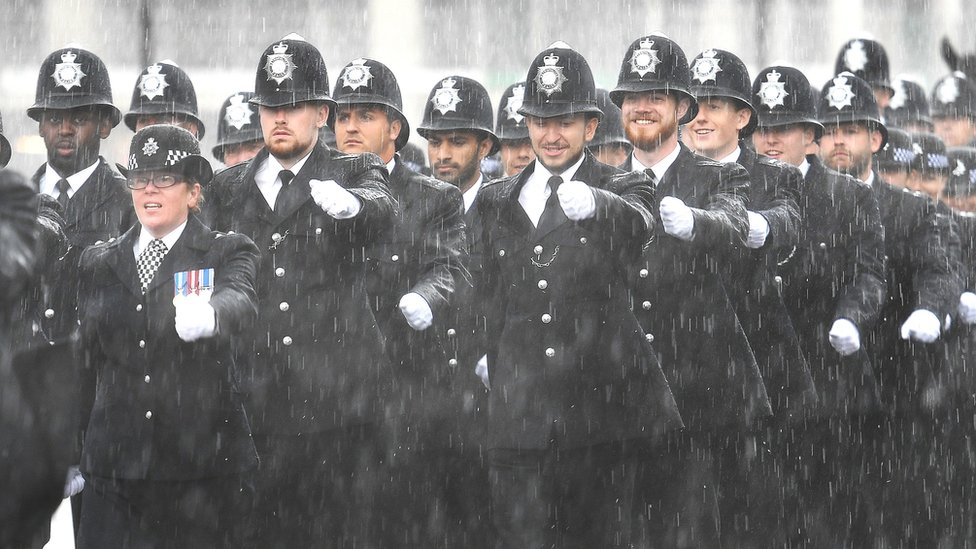 New Met Police recruits rained on at passing out parade