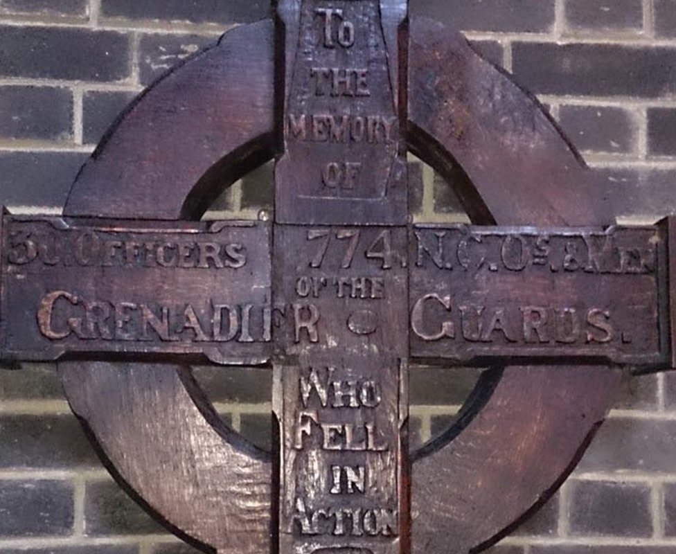 Cross to Grenadier Guards at Army Training Centre, Pirbright