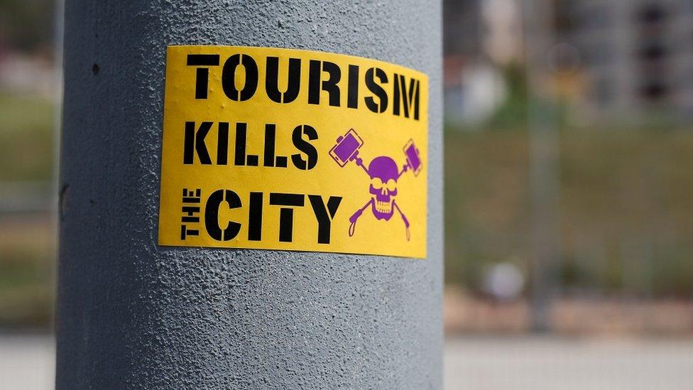 Anti-turizam nalepnica