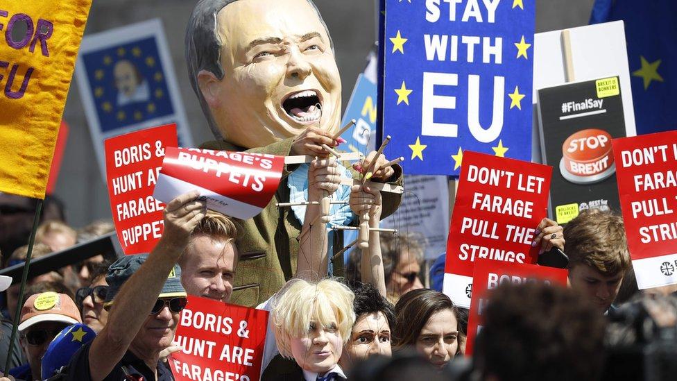 Marcha en Londres contra del Bréxit