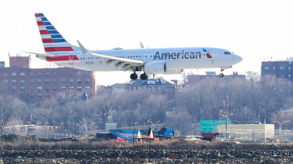 An American Airlines flight