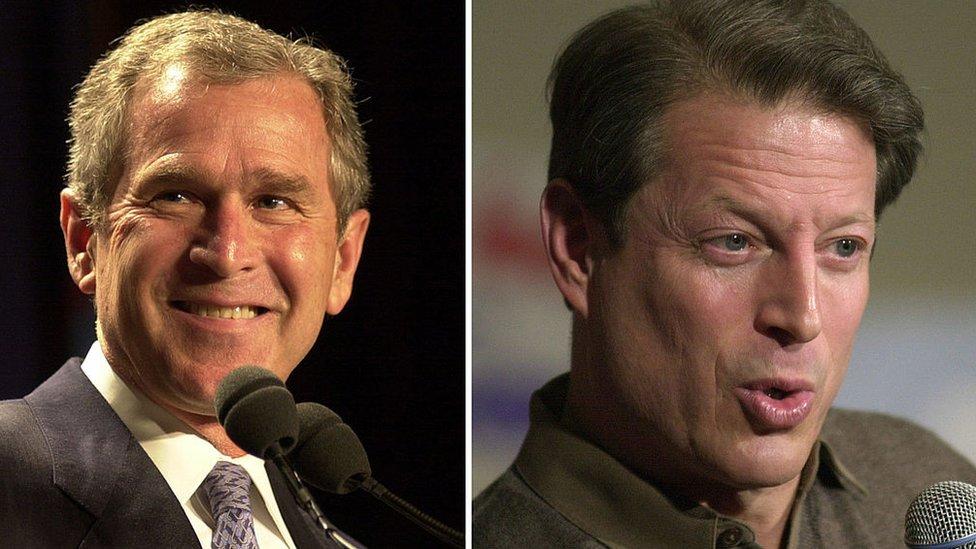 Bush y Gore