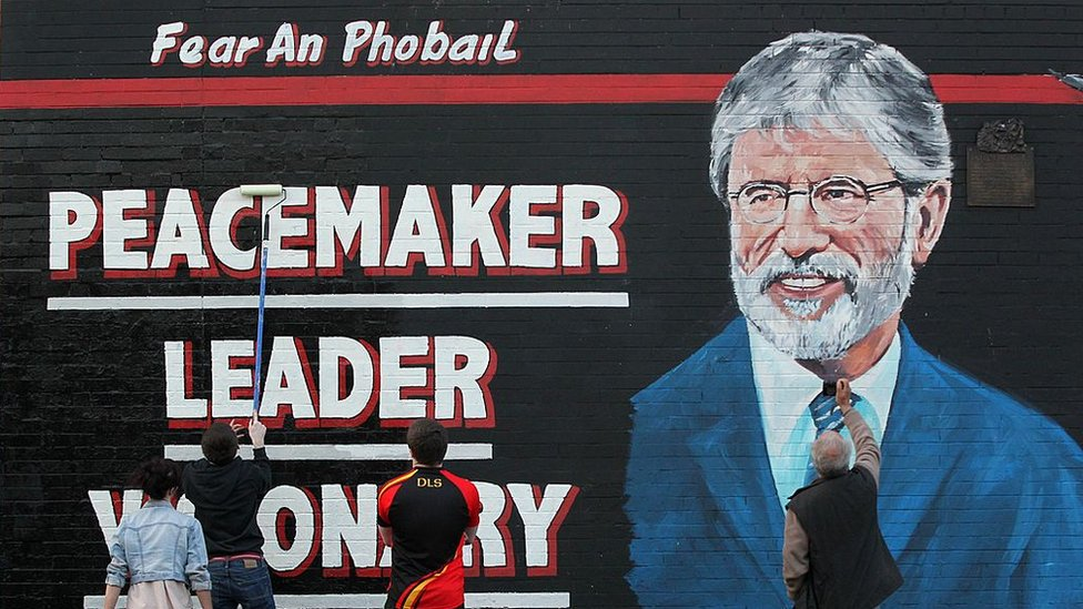 Mural en homenaje a Gerry Adams